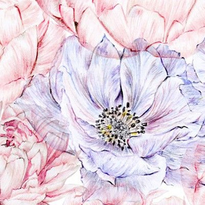 Peonies and Anemones