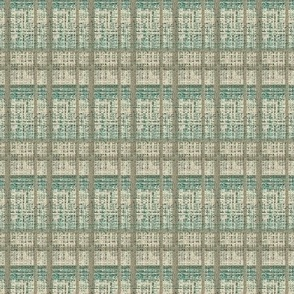 Seagrass Plaid - sand and aqua