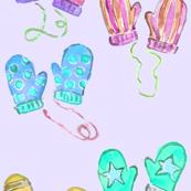 mittens in purple