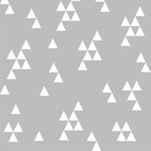 Simple Triangles - Slate Grey by Andrea Lauren