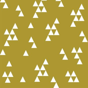 Simple Triangles - Golden Olive by Andrea Lauren