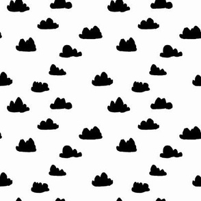 clouds //  mini black and white nursery clouds print