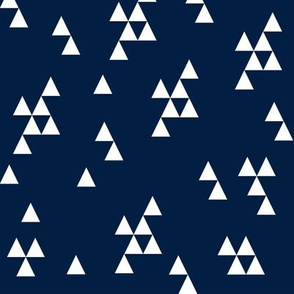 Simple Triangle - Dark Navy by Andrea Lauren