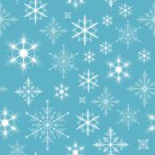 Turquoise Snowflakes