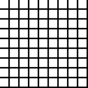 "Grid - Black and White (large 2"") by Andrea Lauren"
