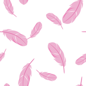 Pink Floating Feathers