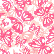 Swarms of Pink Butterflies