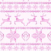 fair isle in pink