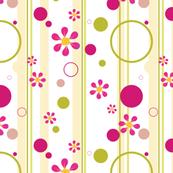 Groovy Pink Flowers