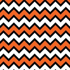Chevron White, Black and Orange