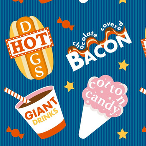 State Fair Typography and Food