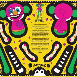 """YD - 30"""" Clown Monkey Cut & Sew Doll Plush"""