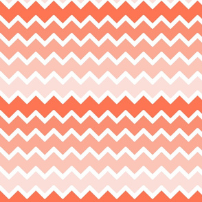 coral pink ombre chevron zigzag pattern