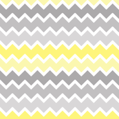 yellow grey gray ombre chevron zigzag pattern