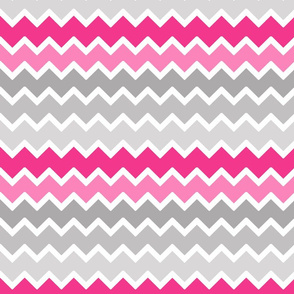 hot pink grey gray ombre chevron zigzag pattern