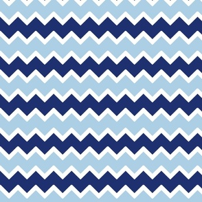 navy sky blue chevron zigzag pattern