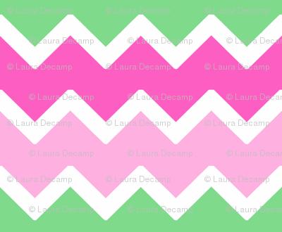 Mint Green Chevron Wallpaper Hot Pink Pastel Zigzag Pattern Fabric
