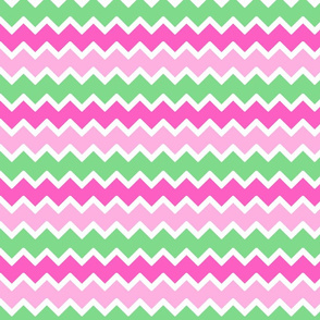 hot pink pastel mint green chevron zigzag pattern