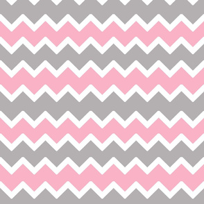 pink grey gray chevron zigzag pattern