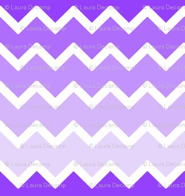 purple lavender lilac ombre chevron zigzag pattern fabric