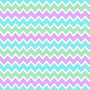 aqua blue green lavender purple chevron zigzag pattern