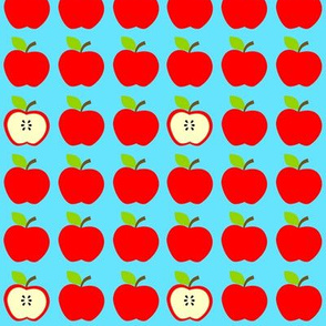 Red Apples Everywhere Blue
