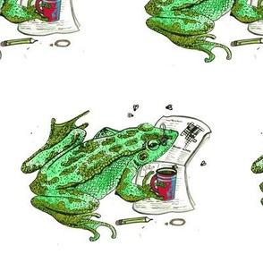 Reading Frog Red Mug