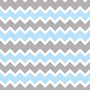 sky blue grey gray chevron