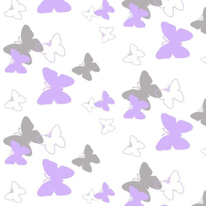 Purple Lavender Grey Gray Butterfly