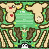 """22"""" Reindeer VooDoo Doll (fat quarter)"""