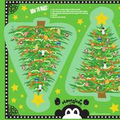 """13"""" A Very Macabre Christmas Tree (fat quarter)"""