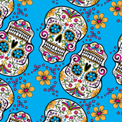 Sugar Skull Day Of The Dead Light Blue