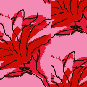 Torches/ pink and red