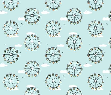 ferris wheel polka dot