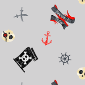 Chalk Pirates Grey Black Red