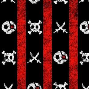 Chalk Pirate Stripes Black Red White