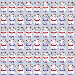Tiny maneki neko lucky cats in strips by Su_G