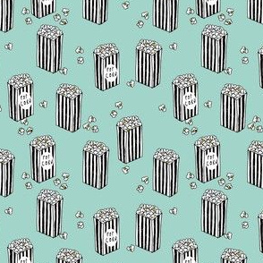Popcorn - (Small Version) Mint and white by Andrea Lauren
