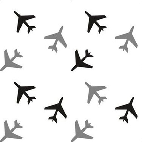 Black_and_White_and_Gray_Airplanes
