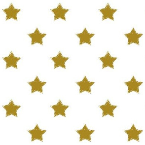 Gold_Stars_on_White_background