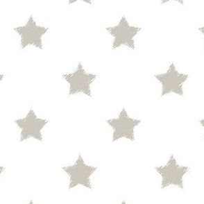 Gray_Stars_on_White_background
