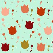 Tulips_on_Aqua_Background