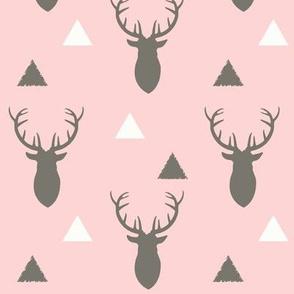 Woodland_Deer_Triangles_Light_Pink