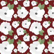 Cranberry Red floral