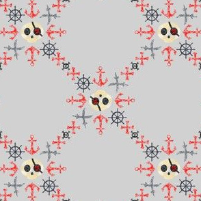 Chalk Pirates Circle Diamond Grey Black Red