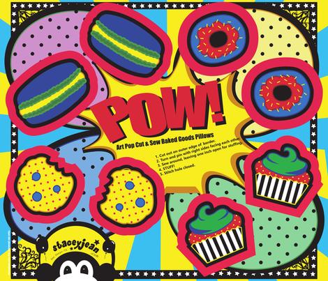 fat quarter - Pop Art Cut & Sew Cookie Plush - Cat Toy