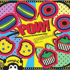 FQ - Pop Art Cut & Sew Cookie Plush (fat quarter)