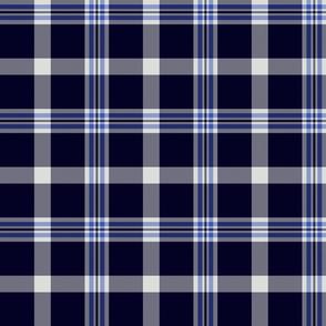 Ikelman tartan 3 - navy, grey, blue