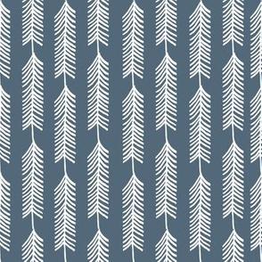 Stripe Tree - Red Riding Hood - Payne's Grey by Andrea Lauren