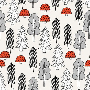 Trees - Red Riding Hood - Off-White by Andrea Lauren